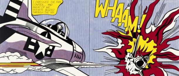 whaam! Roy Lichtenstein 1963, Tate, copyright Estate of Roy Lichtenstein/DACS2012
