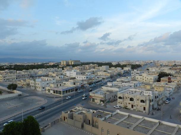 145 steps high, view on top of the minaret of Sheikh Essa Al Mashani Mosque