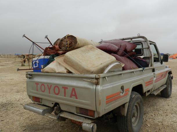 camel herders follow their herd, copyr. MDK