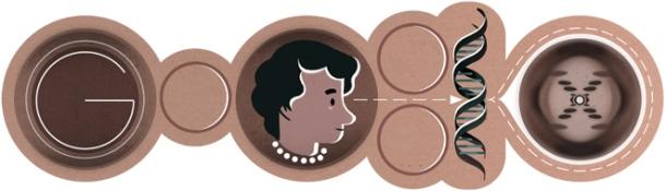 Google doodle of Rosalind Franklin