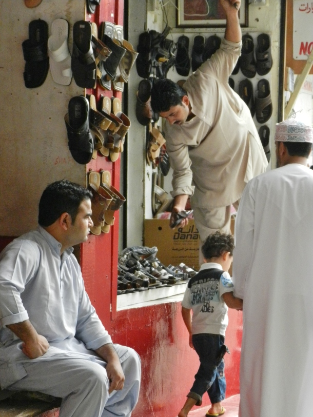 Looking for new shoes, Mutrah Suq, Muscat