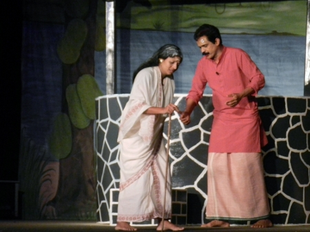 In this traditional play the issues on water conservation, like the sales of water out of wells, was on display.