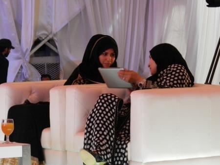 Nada Ahmed Al Sheikh and Kenza Al Zubair