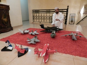 The sky is the limit, model airplanes ondisplay
