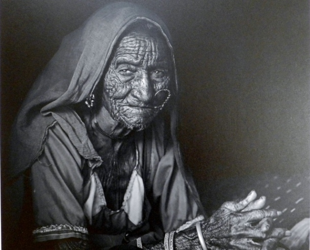 '100 years,' from AbdulRahman Said Abdullah Al Adawi, is a respectful homage at the age of a woman still proudly wearing her jewels with a look in the eyes of a life full of experience, beautiful captured in the square of light.