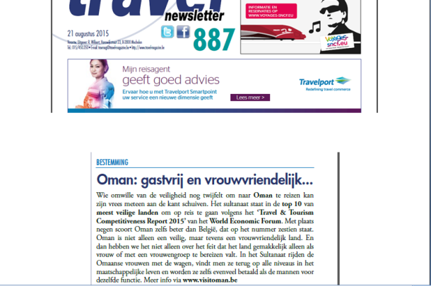 Travel Newsletter, 21-08-2015, Oman: Hospitality and Female-friendly
