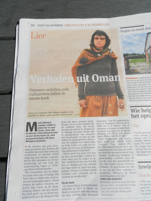 article newspaper GvA 28.08.2015, Title: Stories about Oman....