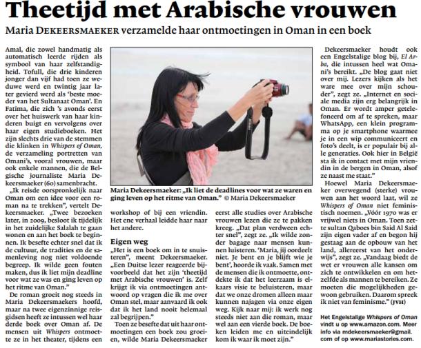 Tea-Time with Arab women, Kerk en leven, Newspaper of the Catholic Church in Belgium-Flanders, 220.000editions