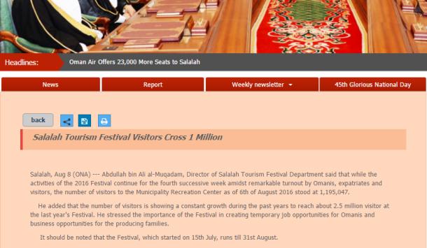 Capture Salalah Tourism festival 2016